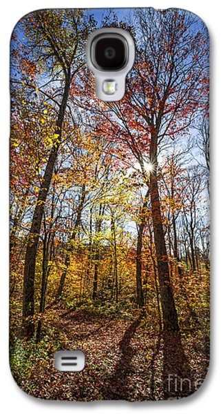 Hiking Trail In Sunny Fall Forest Galaxy S4 Case