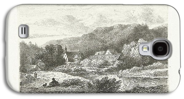 Hill Landscape With Church And Houses, Print Maker Pieter Galaxy S4 Case by Pieter Casper Christ