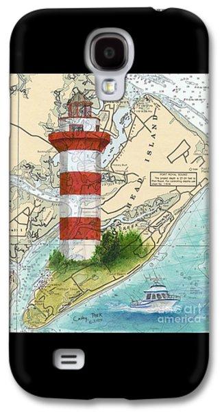 Hilton Head Island Lighthouse Sc Nautical Chart Map Art Cathy Peek Galaxy S4 Case
