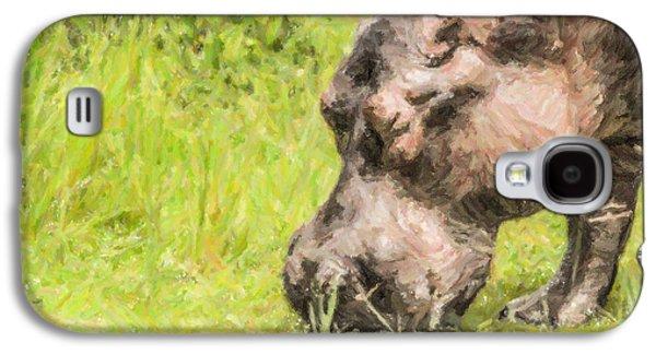 Hippo Hippopotamus Amphibius Grazing Galaxy S4 Case