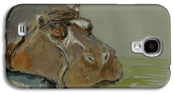 Hippopotamus Galaxy S4 Case - Hippo Sleeping by Juan  Bosco