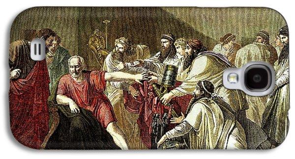 Hippocrates And Artaxerxes Galaxy S4 Case by Sheila Terry