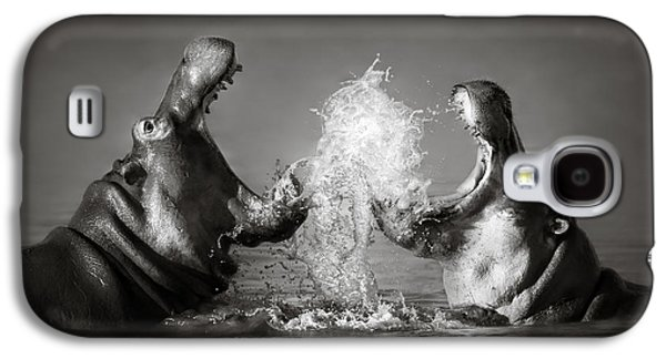 Hippo's Fighting Galaxy S4 Case by Johan Swanepoel