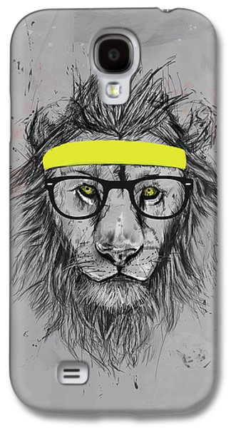 Hipster Lion Galaxy S4 Case by Balazs Solti
