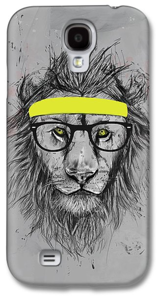 Lion Galaxy S4 Case - Hipster Lion by Balazs Solti