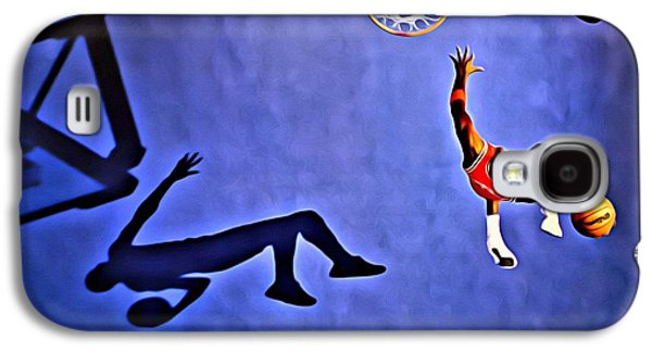 His Airness Michael Jordan Galaxy S4 Case by Florian Rodarte