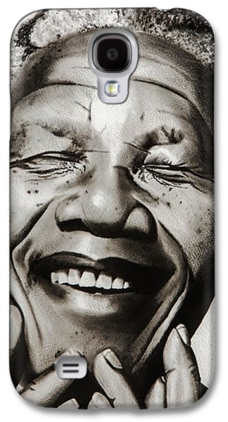 His Excellency Nelson Mandela Galaxy S4 Case by Brian Broadway