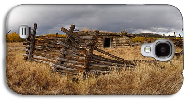 Historical Cabin Montana Galaxy S4 Case by Leland D Howard