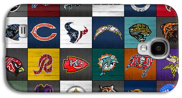 Hit The Gridiron Football League Retro Team Logos Recycled Vintage License Plate Art Galaxy S4 Case