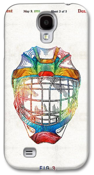 Hockey Art - Goalie Mask Patent - Sharon Cummings Galaxy S4 Case