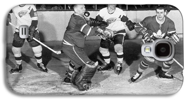 Hockey Goalie Chin Stops Puck Galaxy S4 Case by Underwood Archives