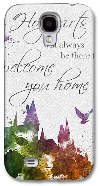 Hogwarts Will Welcome You Home Galaxy S4 Case by Rebecca Jenkins