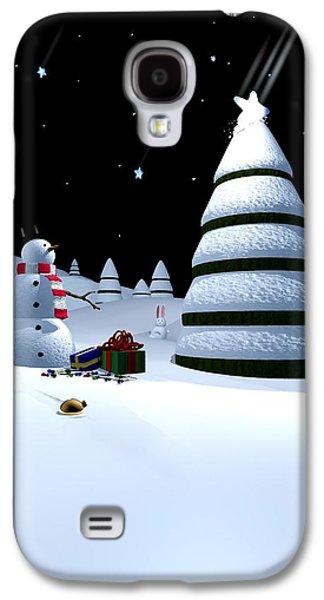 Holiday Falling Star Galaxy S4 Case by Cynthia Decker