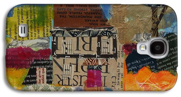 Holiday Home 2013, Acrylicpaper Collage Galaxy S4 Case by Sylvia Paul