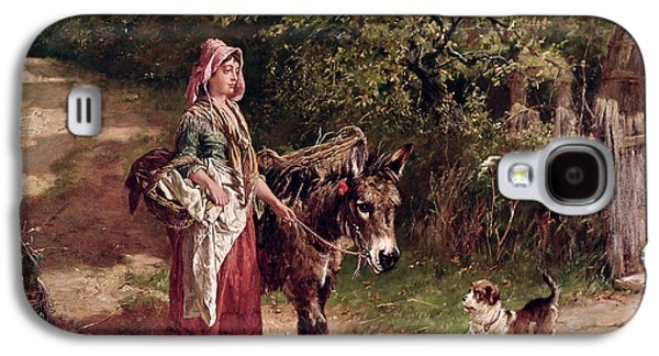 Home From Market Galaxy S4 Case by Edgar Bundy