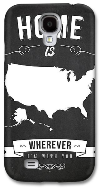 Home Is Wherever I'm With You Usa - Dark Galaxy S4 Case by Aged Pixel