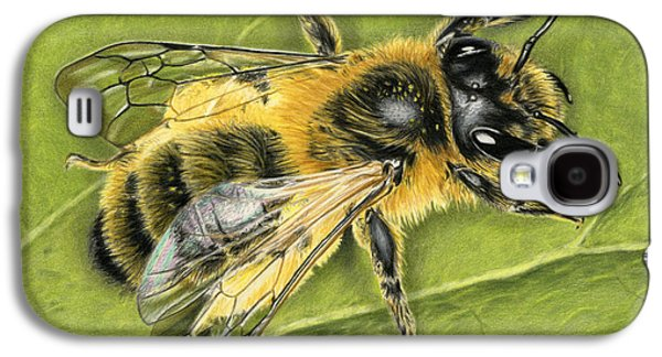 Honeybee On Leaf Galaxy S4 Case