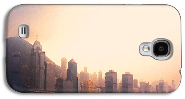 Hong Kong Galaxy S4 Case - Hong Kong Harbour Sunset by Pixel  Chimp