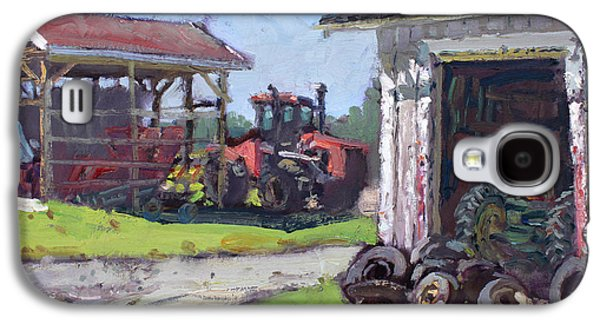 Tractors Galaxy S4 Case - Hoover Farm In Sanborn by Ylli Haruni