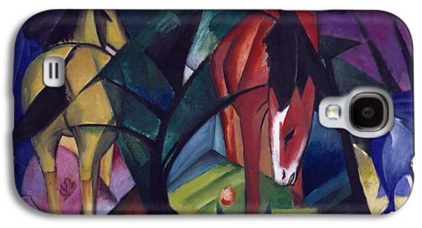 Horse And Eagle Galaxy S4 Case by Franz Marc