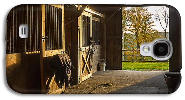 Horse Barn Sunset Galaxy S4 Case by Edward Fielding