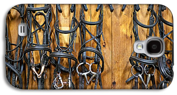 Horse Bridles Hanging In Stable Galaxy S4 Case by Elena Elisseeva