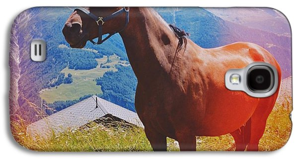 Light Galaxy S4 Case - Horse In The Alps by Matthias Hauser