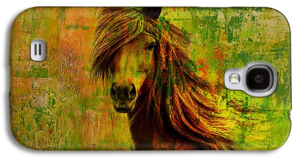 Horse Paintings 001 Galaxy S4 Case by Catf