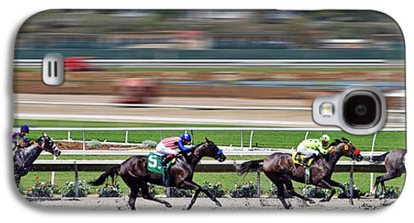 Horse Racing Galaxy S4 Case by Christine Till