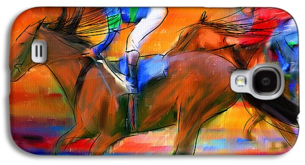 Horse Racing II Galaxy S4 Case by Lourry Legarde