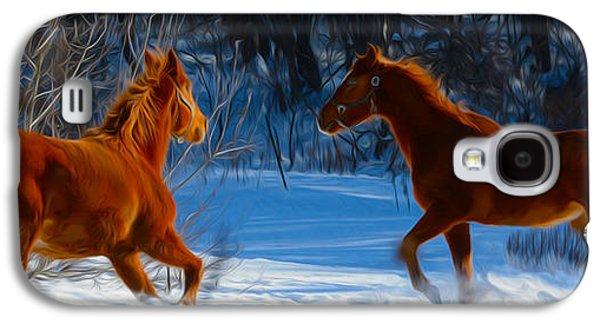 Horses At Play Galaxy S4 Case