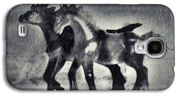 Horses In Twilight Galaxy S4 Case by Jeff  Gettis