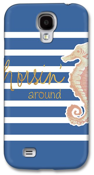 Horsin' Around Galaxy S4 Case by Elizabeth Medley