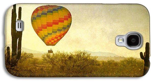 Hot Air Balloon Flight Over The Southwest Desert Fine Art Print  Galaxy S4 Case by James BO  Insogna