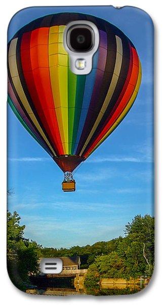 Hot Air Balloon Woodstock Vermont Galaxy S4 Case by Edward Fielding