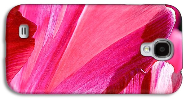Hot Pink Galaxy S4 Case by Rona Black