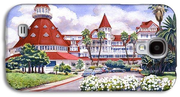 Hotel Del Coronado After Rain Galaxy S4 Case by Mary Helmreich