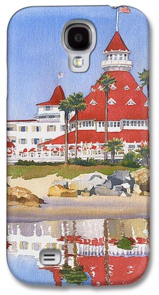 Hotel Del Coronado Reflected Galaxy S4 Case by Mary Helmreich