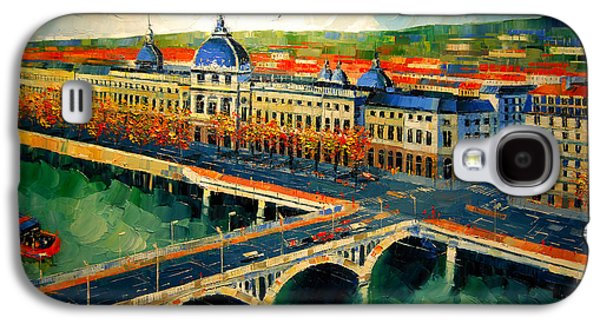 Hotel Dieu De Lyon II Galaxy S4 Case by Mona Edulesco