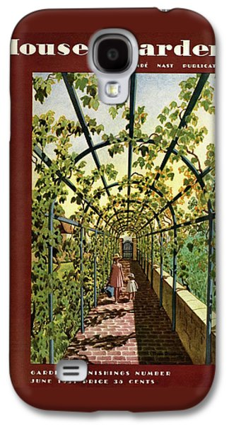House & Garden Cover Illustration Of Young Girls Galaxy S4 Case by Pierre Brissaud