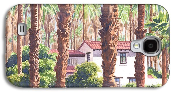 House Among Date Palms In Indio Galaxy S4 Case by Mary Helmreich