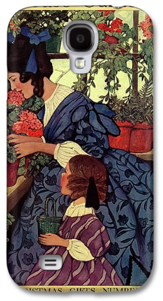 House And Garden Christmas Gift Number Cover Galaxy S4 Case by Ethel Franklin Betts Baines