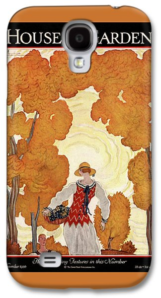 House And Garden House Planning Number Cover Galaxy S4 Case by Georges Lepape