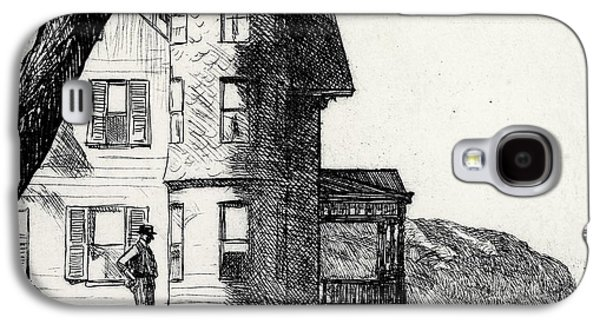 House By A River Galaxy S4 Case by Edward Hopper