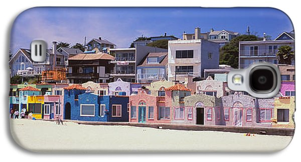 Houses On The Beach, Capitola, Santa Galaxy S4 Case by Panoramic Images