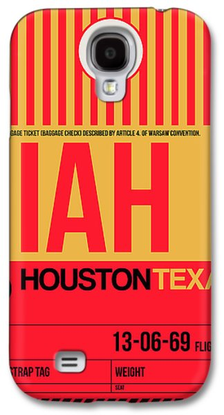 Houston Airport Poster 1 Galaxy S4 Case by Naxart Studio