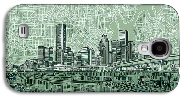 Houston Skyline Abstract 2 Galaxy S4 Case