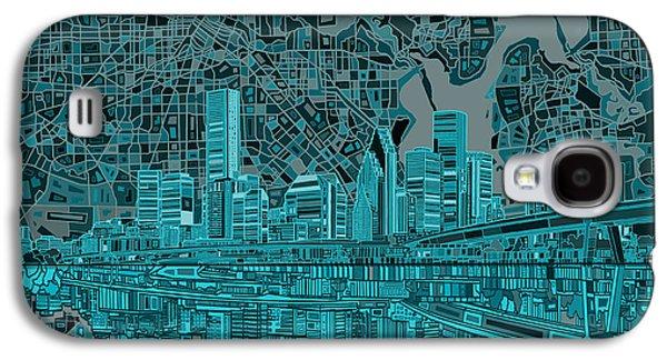 Houston Skyline Abstract 7 Galaxy S4 Case
