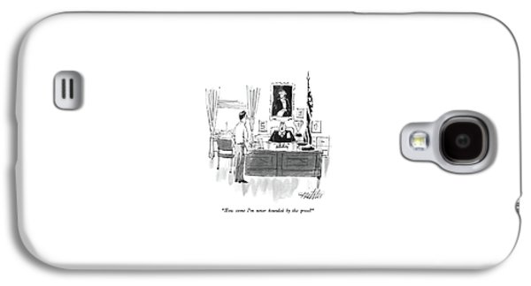 How Come I'm Never Hounded By The Press? Galaxy S4 Case by Mischa Richter