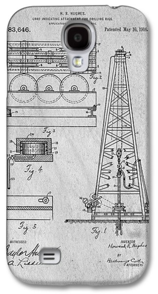 Howard Huges Drilling Rig Original Patent Galaxy S4 Case by Edward Fielding
